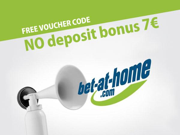 Get free bet-at-home voucher code 7€ no deposit bonus • Articles