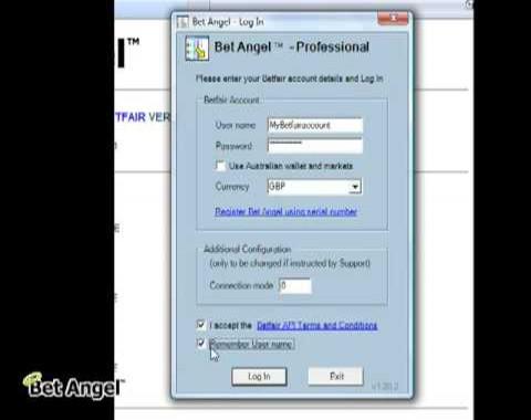 Bet Angel - Registering your account