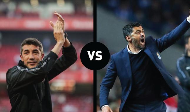 Benfica-FC Porto: Bruno Lage melhor que Sérgio Conceição em duelos com grandes