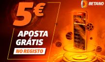 Betano: 5€ gratis sem depósito