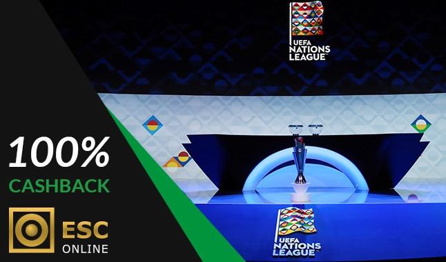 Cashback 100% Liga das Nações