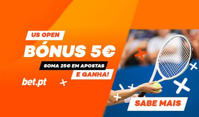 Bónus de 5€ no US Open