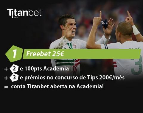 Freebet 25€ na Titanbet agora também para Portugal