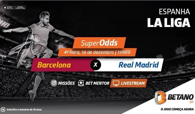 Barcelona - Real Madrid Livestream e SuperOdds