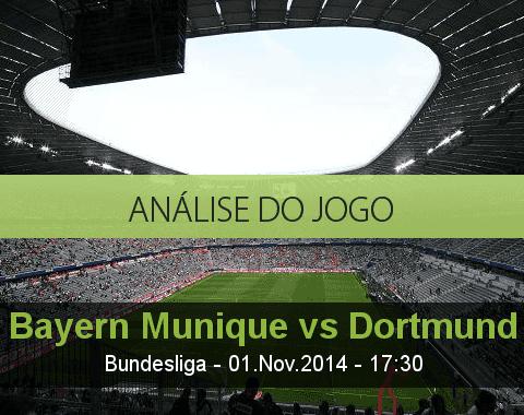 Análise do jogo: Bayern de Munique vs Borussia Dortmund (1 Novembro 2014)