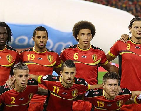 Os jogadores chave da Seleção da Bélgica: Vicent Kompany, Eden Hazard e Romelu Lukaku