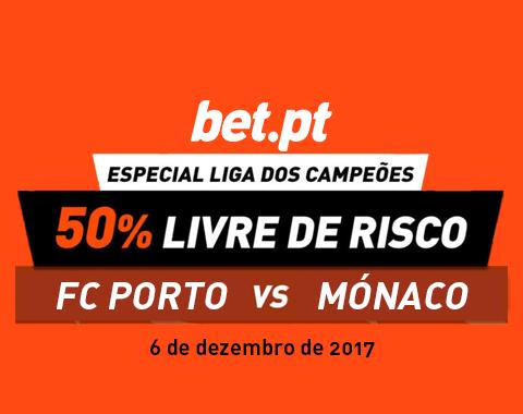 50% de reembolso no FC Porto vs Mónaco
