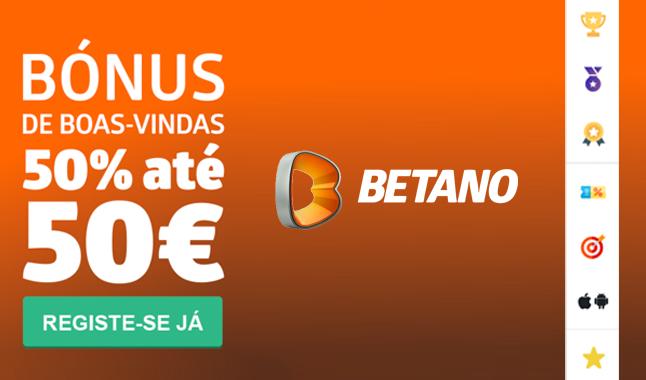 Bónus até 50€ em betano.pt