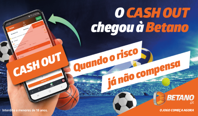 Cashout já disponível na Betano