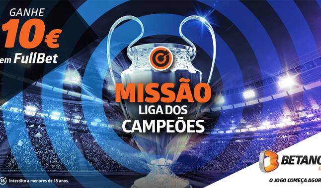 Aposte e Ganhe 10€ com a Liga dos Campeões