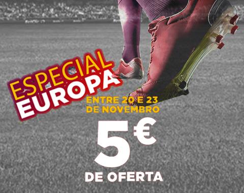 Betclic – 5€ de oferta no Especial Europa