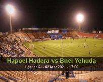 Hapoel Hadera Bnei Yehuda betting prediction (02 March 2021)