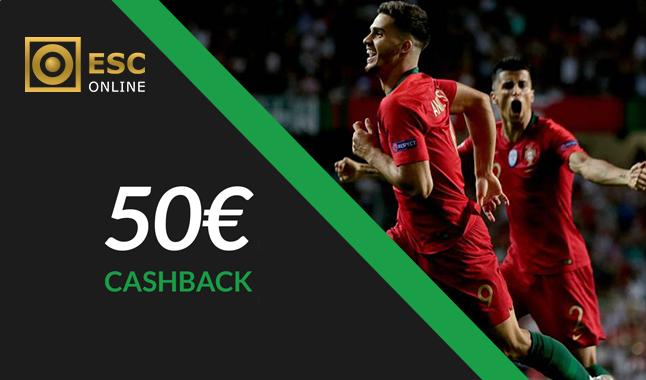 Liga das Nações: Freebet até 50€