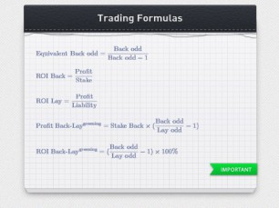 Useful formulas for Sports Betting Trading