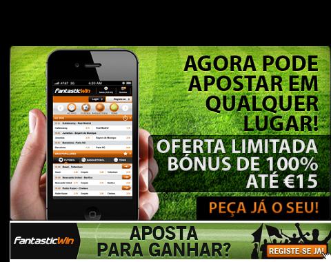 Bónus para apostar através de Smartphone (iPhone, Android, Blackberry, Windows Phone)