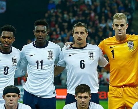 A Seleção da Inglaterra de Wayne Rooney, Steven Gerrard e Frank Lampard