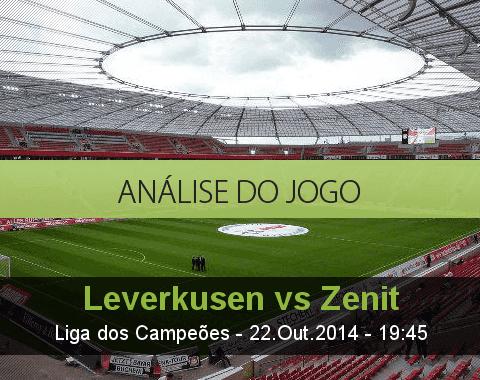 Análise do jogo:  Bayer Leverkusen vs Zenit (22 Outubro 2014)
