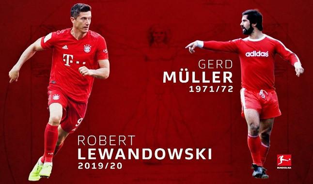 Lewandowski breaks historic record that belonged to Gerd Müller