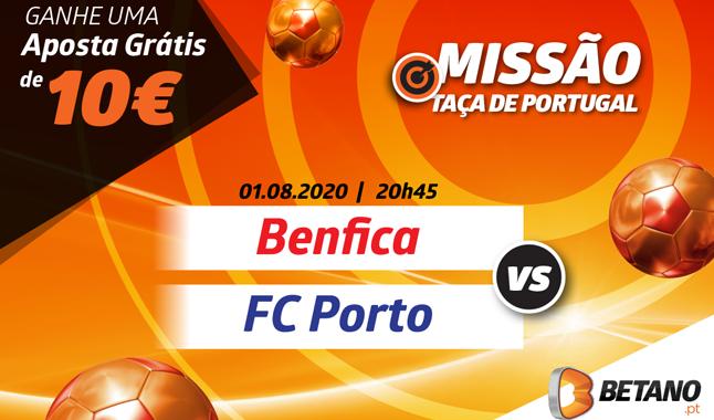 10€ em Aposta Grátis no Benfica - Porto