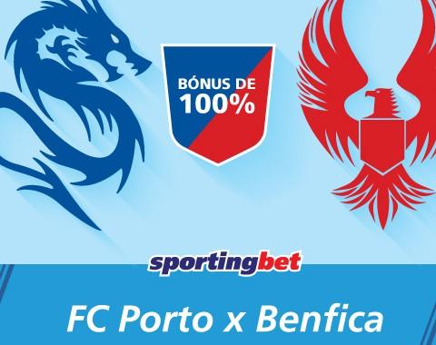 Porto e Benfica marcam e tu ganhas 100% com os golos