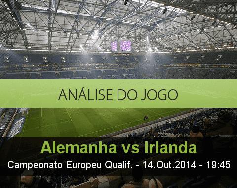 Análise do jogo: Alemanha vs República da Irlanda (14 Outubro 2014)
