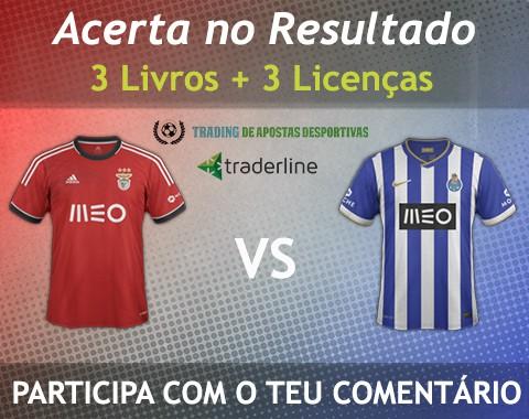 Acerta no resultado do Benfica vs Porto e ganha 3 Livros e 3 Licenças