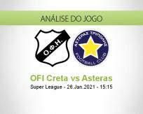 Prognóstico OFI Creta Asteras (26 Janeiro 2021)