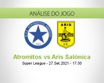 Prognóstico Atromitos Aris Salónica (27 Setembro 2021)