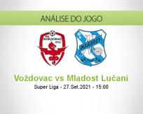 Prognóstico Voždovac Mladost Lučani (27 Setembro 2021)