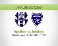 Prognóstico Apollon Ionikos (27 Setembro 2021)