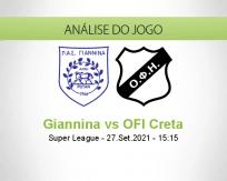 Prognóstico Giannina OFI Creta (27 Setembro 2021)