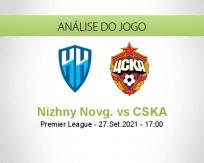 Prognóstico Nizhny Novg. CSKA (27 Setembro 2021)