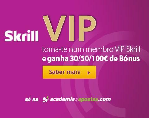 Como ser VIP Skrill e ganhar até 100€ de bónus