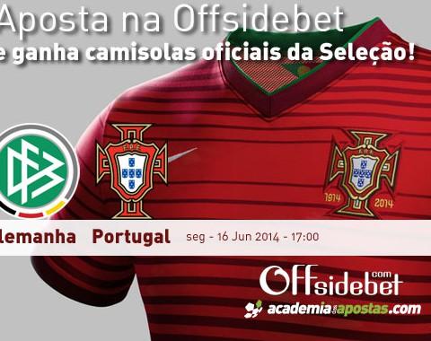 Alemanha vs Portugal: ganha uma camisola oficial de Portugal na Offsidebet