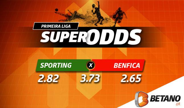 Odds aumentadas no dérbi Sporting vs Benfica