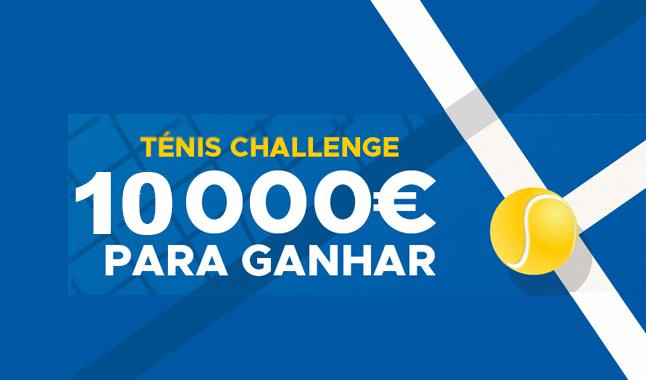 Ténis Challenge: 10.000€ para ganhar