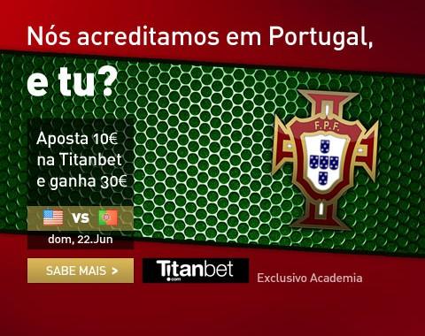 Estados Unidos vs Portugal: Apoia Portugal e ganha 30€