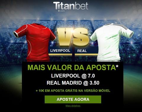 Liverpool vs Real Madrid (22 Outubro): o maior prémio que vais encontrar ao apostar nestas equipas