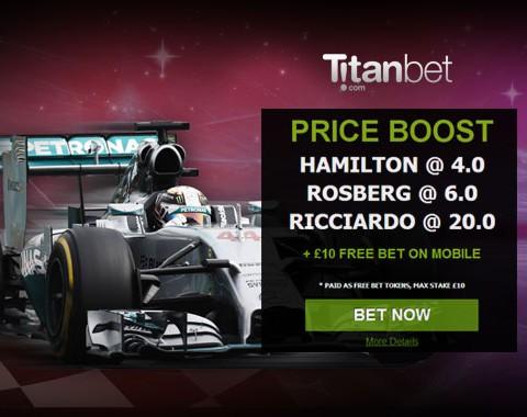 Fórmula 1 Grande Prémio da Bélgica: odds aumentadas para o vencedor!