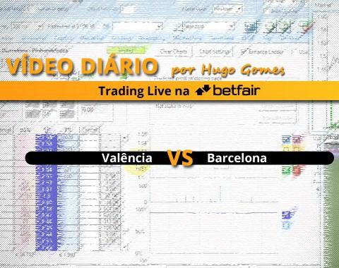 Vídeo comentado de Trading ao Vivo na Betfair: jogo Valência vs Barcelona