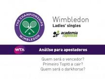 Wimbledon 2019 circuito feminino, análise de apostas